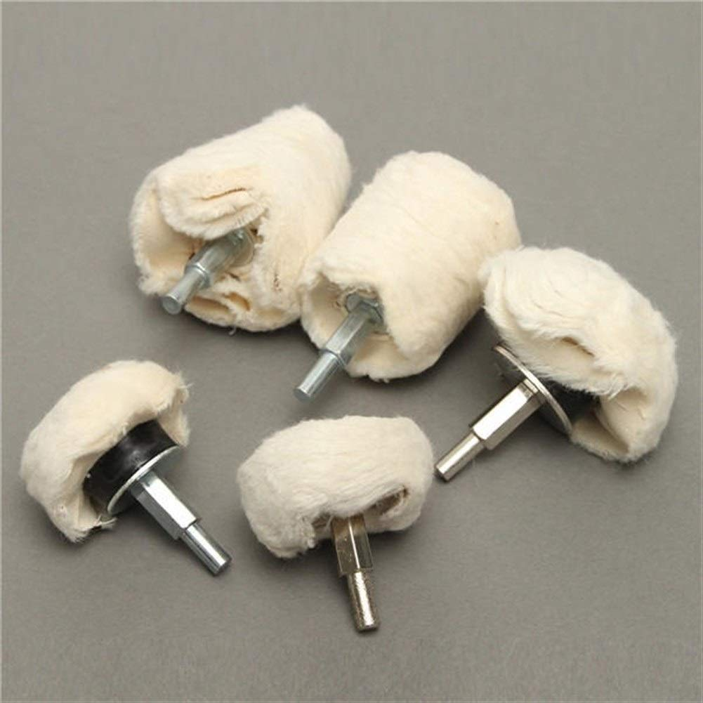 CHUNSHENN Durable 5pcs Plane Cylindrical Mushrooms Cone Wheel Polishing Wheel Buffing Pad Mop Kit Buffing Wheels