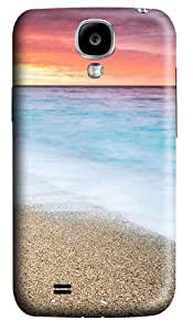 Fire Sunset At Beach Custom Samsung Galaxy I9500/Samsung Galaxy S4 Case Cover Polycarbonate 3D