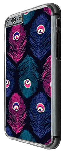 1361 - Cool Fun Trendy cute kwaii peacock feathers collage Design iphone 6 6S 4.7'' Coque Fashion Trend Case Coque Protection Cover plastique et métal - Clear