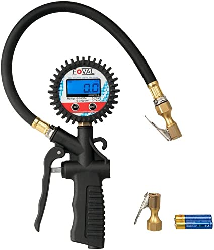 Foval Digital inflador de neumáticos (y Detector de presión de ...