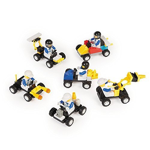12 Mini BUILDING Block Vehicle Sets/RACE Car/JEEP/Construction, etc Birthday Party FAVORS - STOCKING STUFFERS/Motor Skills