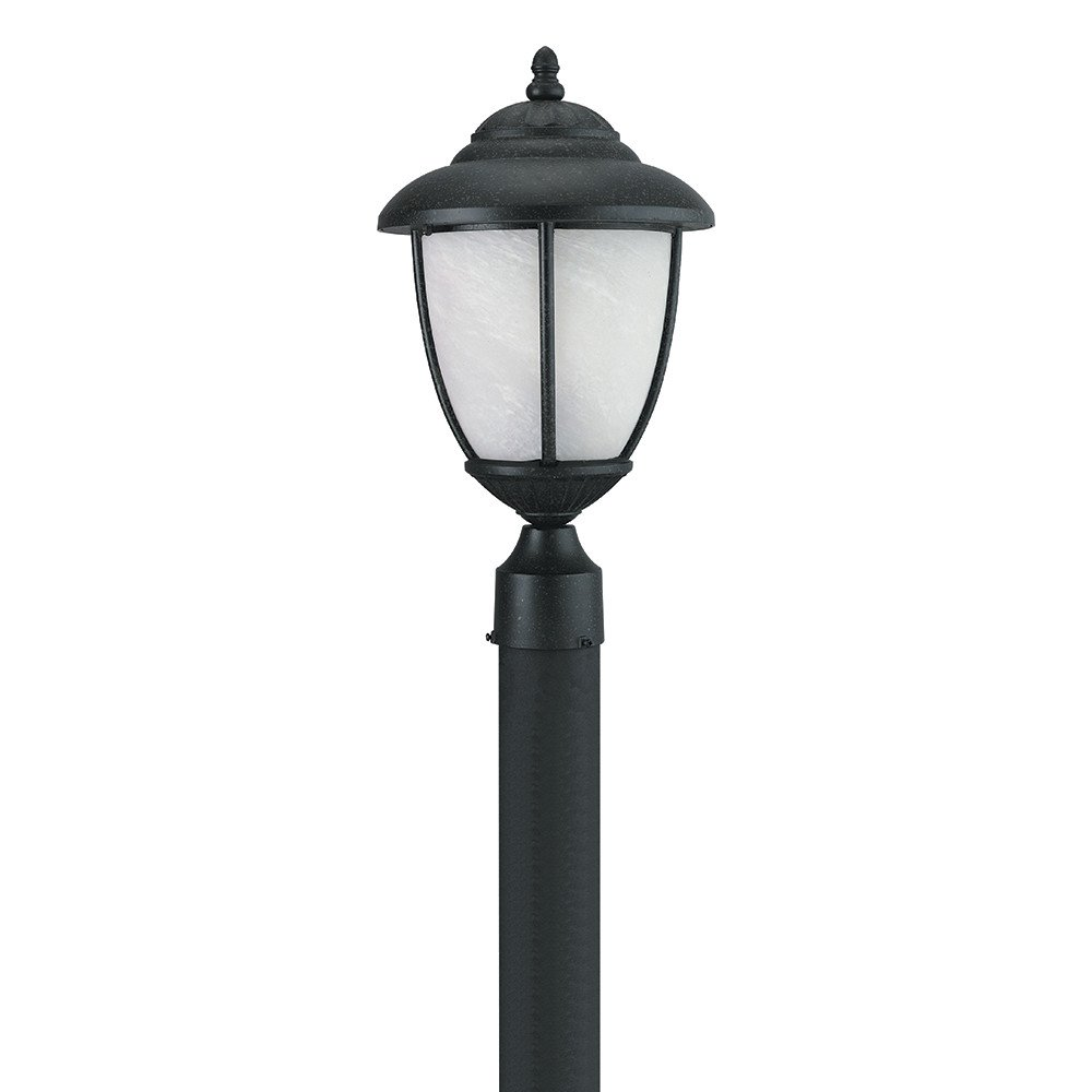 Sea Gull Lighting Yorktowne Collection (10D x 17.25H Inches) One-Light Outdoor Post Lanterns, Forged Iron Finish by Sea Gull Lighting (Image #1)