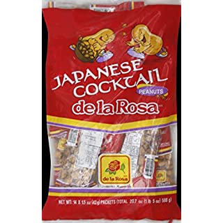 De La Rosa Japones Candy, Peanuts, 1.5 Ounce, 14 Count, (Pack of 16)