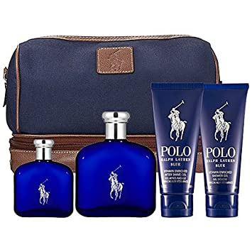 Polo Blue Ralph Lauren For Men Gift Set 4 Piece Collection 4.2 Fl Oz EDT  Spray