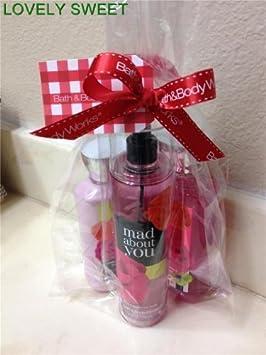 Bath Body Works Mad About You Set, Body Lotion 8 Oz, Shower Gel 10 Oz Fragrance Mist 8 Oz