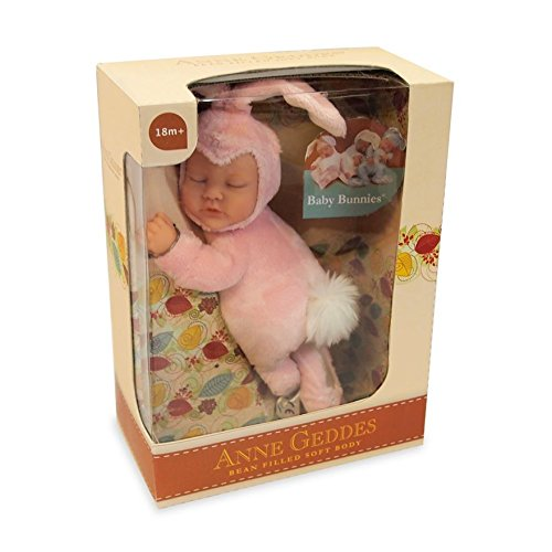 Anne Geddes Bean Filled Soft Body 9 inch Pink Bunny Rabbit Doll