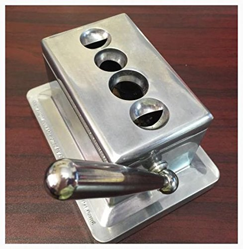 Stainless Steel Cast Body Quad Table Top Desktop Cigar Cutter New by kpy