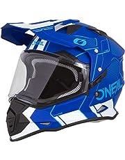 O'Neal Sierra II Comb Motocross Motorrad Helm MX Enduro Trail Quad Cross Offroad Gelände, 0817, Farbe Blau Weiß, Größe L