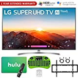 LG 4K HDR Smart LED AI SUPER UHD TV with ThinQ (2018 Model) + Free Hulu $50 Gift Card + 1 Year Extended Warranty + Flat Wall Mount Kit Ultimate Bundle + More (65' SK8000)