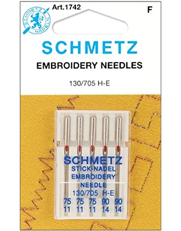 Embroidery Machine Needles-3-75, 2-90 5/Pkg [Office