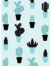 Cactus Notebook: Contemporary Aqua Cactus Journal Notebook 110 Page Composition Book Diary Planner Cactus Lover Gifts (8.5 x 11 inch)