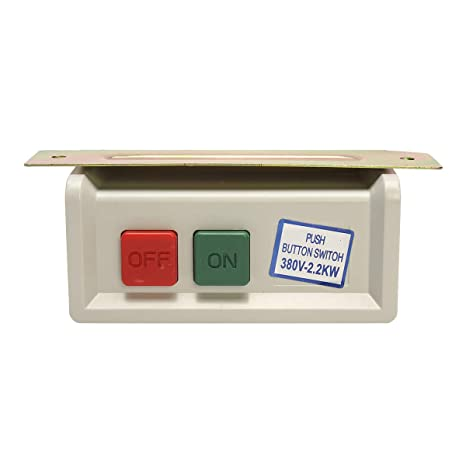 CCChaRLes Caja De Interruptor De Botón De Encendido/Apagado Para ...