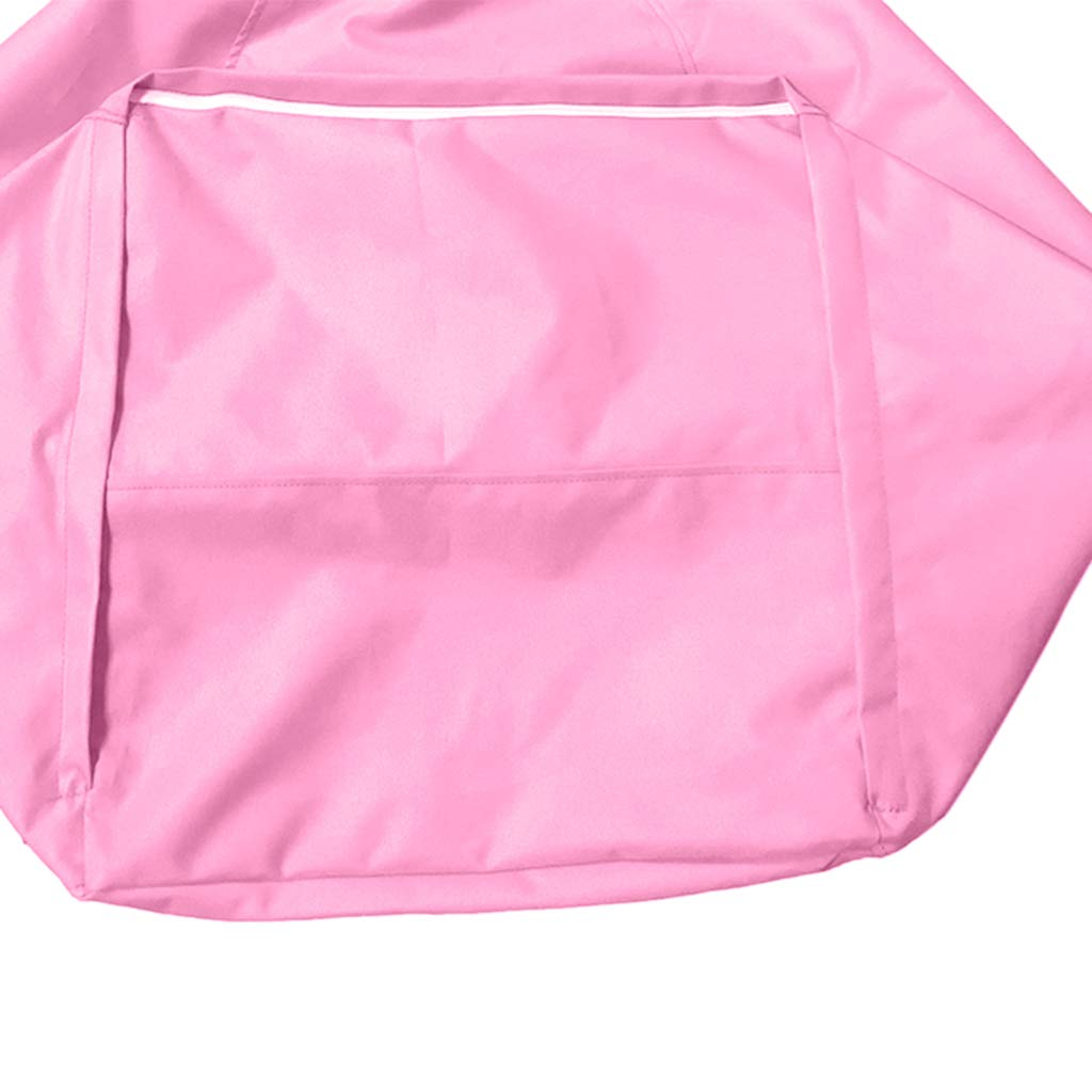 Beige 11 Colors Available D DOLITY Kids Stuffed Animal Storage Bean Bag Cover with Inner Pockets Waterproof