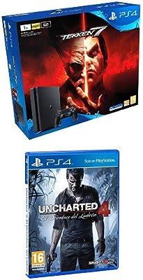 PlayStation 4 - Bundle Consola De 1 TB + Tekken 7 + Uncharted 4: El Desenlace Del Ladrón: Amazon.es: Videojuegos