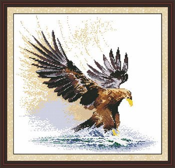 Joy Sunday Cross Stitch Kits, A Flying Eagle,14CT Counted, 42cm×41cm or 16.38