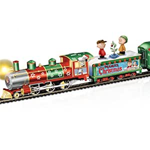 PEANUTS Charlie Brown Christmas Express Train Set by Hawthorne Village