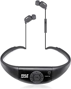 Pyle PSWBT7BK Active Sport Water Resistant Bluetooth Hands Free Wireless Stereo Headphones and Headset with Built in Microphone for Call Answering (Black)