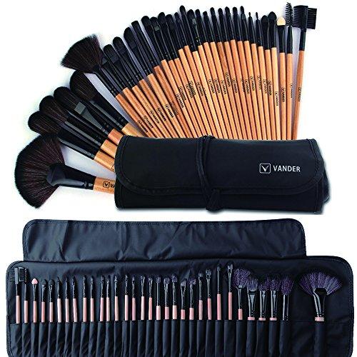 Makeup Brushes Set Professional Makeup Brush Cosmetic Set Kit Wooden Handle Cosmetics Foundation Eyeliner Eyeshadow Face Powder Blush Lipstick Brushes-32 (Pro Sable Makeup Brush)