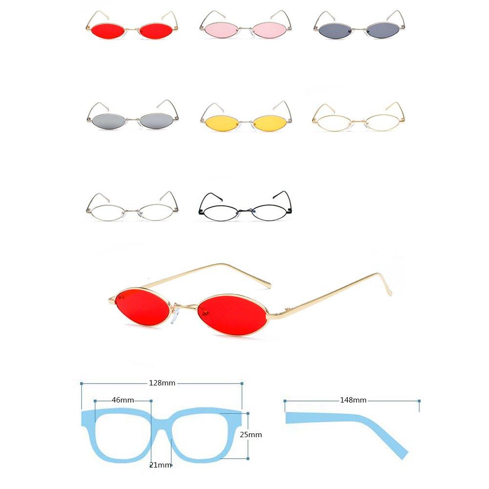 f3b2167ba2ac2a Inlefen Vintage ovale lunettes de soleil petit cadre en métal Designer  Lunettes  Amazon.fr  Vêtements et accessoires