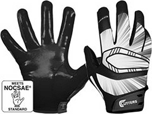Cutters Gloves REV Pro Receiver Glove (Pair), Black, XX-Large by Cutters