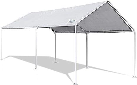 Quictent - Carpa portátil para garaje (3 x 6 m), color blanco ...