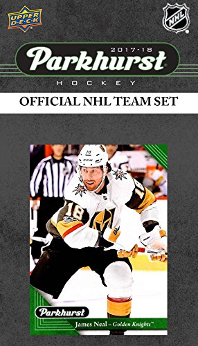 Vegas Golden Knights 2017 2018 Upper Deck PARKHURST Series Factory Sealed Team Set including Marc-Andre Fleury, James Neal, Vadim Shipachyov Rookie Card plus