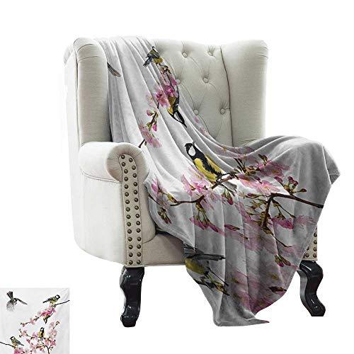 "WinfreyDecor Soft Blanket Throw Zebra Print,Abstract Zebra Skin Pattern Geometric Horizontal Stripes Illustration,Purple Red Yellow 62""x60"",Bed or Couch Travel Multi Use"