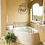 Bathroom Wall Decal with Wrought Iron Design - Bath Sign with La Toilette Saying in Vinyl Lettering for Mirror or Wall (Custom, Small)