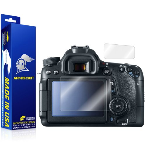 ield - Canon EOS 70D (Top LCD Included) Screen Protector - Anti-Bubble Ultra HD Shield w/ Lifetime Replacements (Canon Lcd Cover)