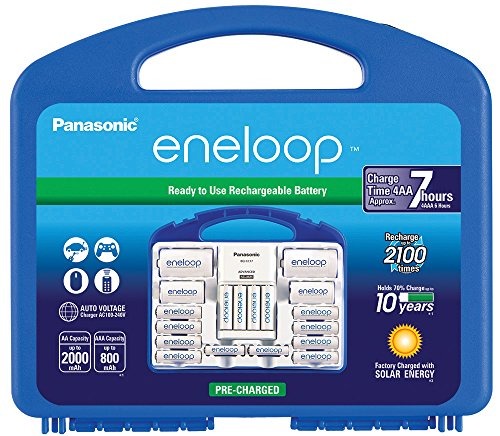 Price comparison product image Panasonic K-KJ17MC124A Eneloop Power Pack for 12AA, 4AAA, 2 C Spacers, 2 D Spacers, Advanced Individual Battery Charger