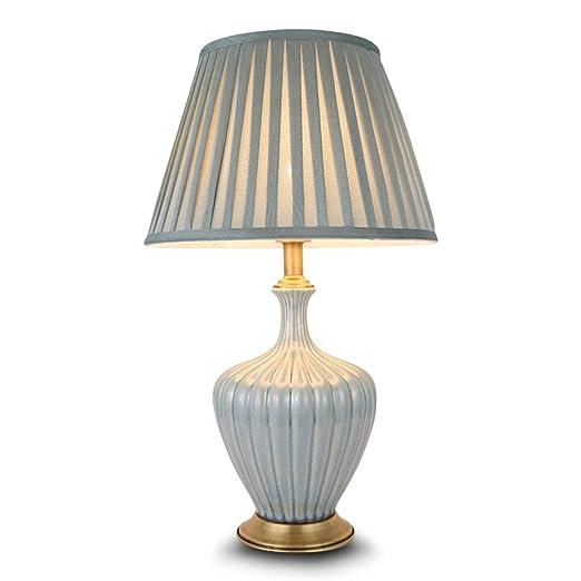 Sala de Estar lámpara de Mesa, Cerámica Textura Cian Claro Tabla ...