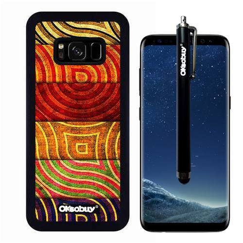 Galaxy S8 Case, National Colorful Watermark Armor Case, OkSoBuy Ultra Thin Soft Silicone Case for Samsung Galaxy S8 - National Colorful Watermark Armor