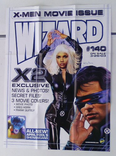 "25 by 19"" Uncanny X-Men Movie Wizard Promo Poster: Halle Ber"