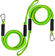 Bungee Dock Lines with Hook, 4 Feet Bungee Shock Cords Bungee Docking Rope Mooring Rope for Boat,PWC,Jet ski,P