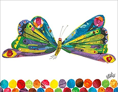 Amazon.com: Oopsy Daisy Fine Art for Kids Eric Carle\'s Butterfly ...