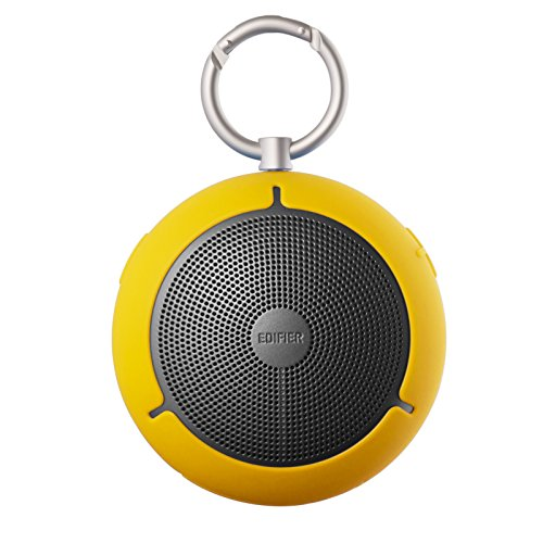 Edifier MP100 Portable Bluetooth Speaker - Wireless Splash/Dust Proof Boombox with microSD Card for Hiking Camping and Outdoors Activities - Yellow