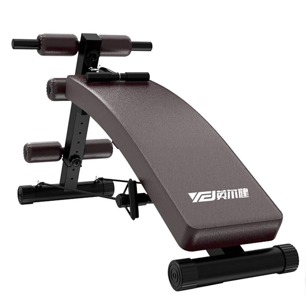 YXGH- Einstellbare Arc-Shaped Ablehnen Sit up Bench Crunch Board Übung Fitness Workout, multifunktionale Fitnessgeräte, Tragfähigkeit 200 kg Sportwaren