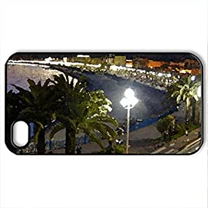 Night View Blurred Cars - Case Cover for iPhone 4 and 4s (Modern Series, Watercolor style, Black)