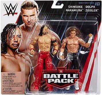 Lucha Libre Shinsuke Nakamura & Dolph Ziggler WWE Mattel Battle Pack Básico Colección Serie 53 #2018 Accesorios Figura de Acción de Lucha Libre: Amazon.es: Juguetes y juegos