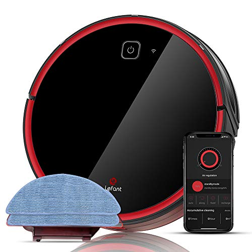 Lefant T701 Robot Vacuum and Mop Cleaner, 1800Pa Powerful Suction, WiFi Remote Control,Quiet, Self-Charging Robotic Vacuum Cleaners, Good for Medium-Pile Carpets, Hard Wooden Floors and Pet Hairs
