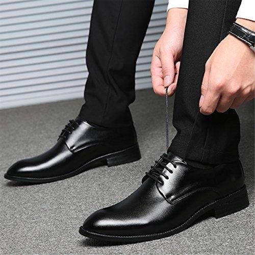 AARDIMI Chaussures à Lacets Homme Schwarz 2 (Erhöht 1cm In Der Höhe) t4fK4