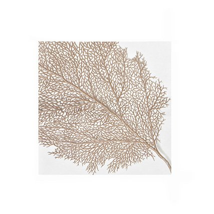 - Pack of 20 Gold Leaf Luncheon Size Paper Napkin 6.5
