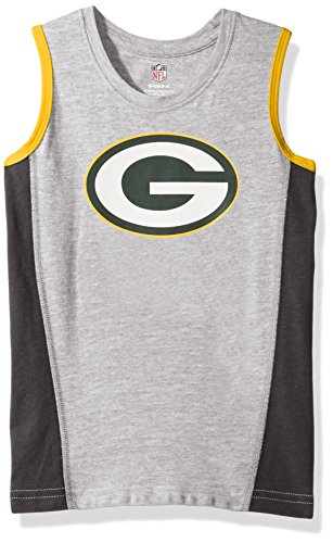 (Outerstuff NFL Green Bay Packers Boys 4-7 Fan Gear Tank Top, Small (4), Heather Grey)