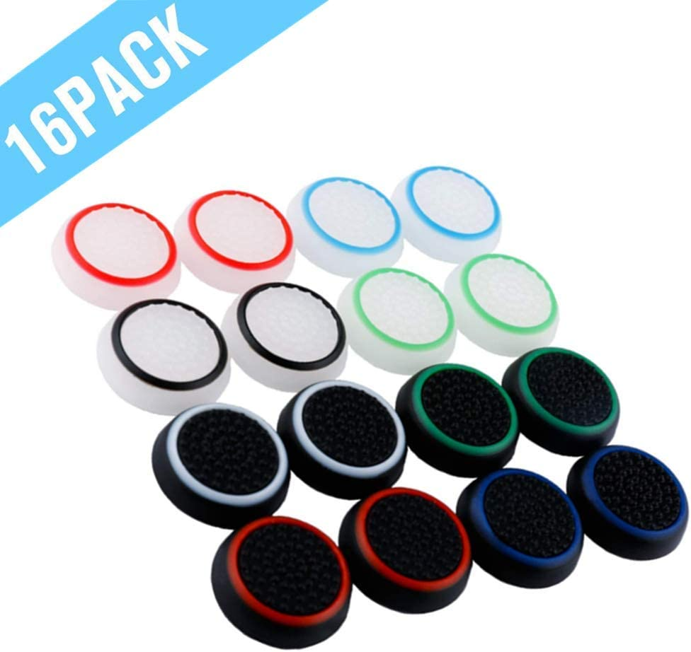 QINGYA 8 Sets Soft Anti-Slip Silicone Controller Cover Skins Thumb Grips Caps Protective Cover Case for Xbox One Elite(Protective Case)