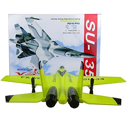 HiGOGO SU-35 RC Remote Control Helicopter Plane, Glider Airplane EPP Foam 3.5CH 2.4G Toys - Good Choice Drone Training (Yellow) (Yellow) -