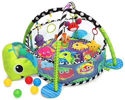 Manta de arrastre, alfombra de juegos con arco de juego y bolas Dominiti