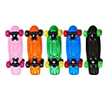 Rude Boyz and OC Girl 17 Inch Mini Beginner Skateboard Retro Color Banana Board Cruiser Board - Green