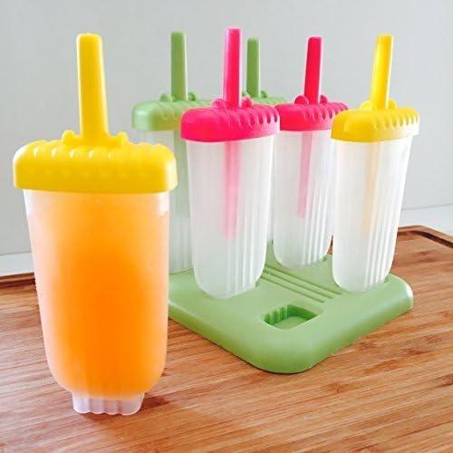 6 Piezas - Set Moldes Polo Hielo En Silicona Multicolores, Moldes ...