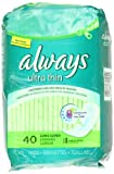 Always Ultra Long/Super Without Wings, Thin Pads 40 Count (Pack of 3)