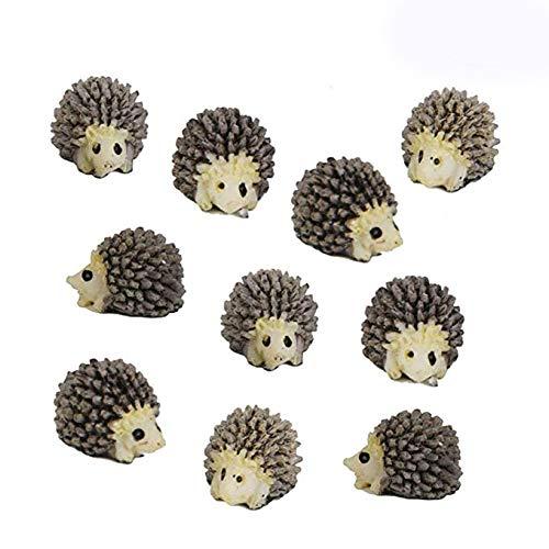 Unetox Mini Micro Landscape Hedgehogs 10Pcs Cute Hedgehogs Fairy Garden Decor DIY Landscaping 12pcs Review